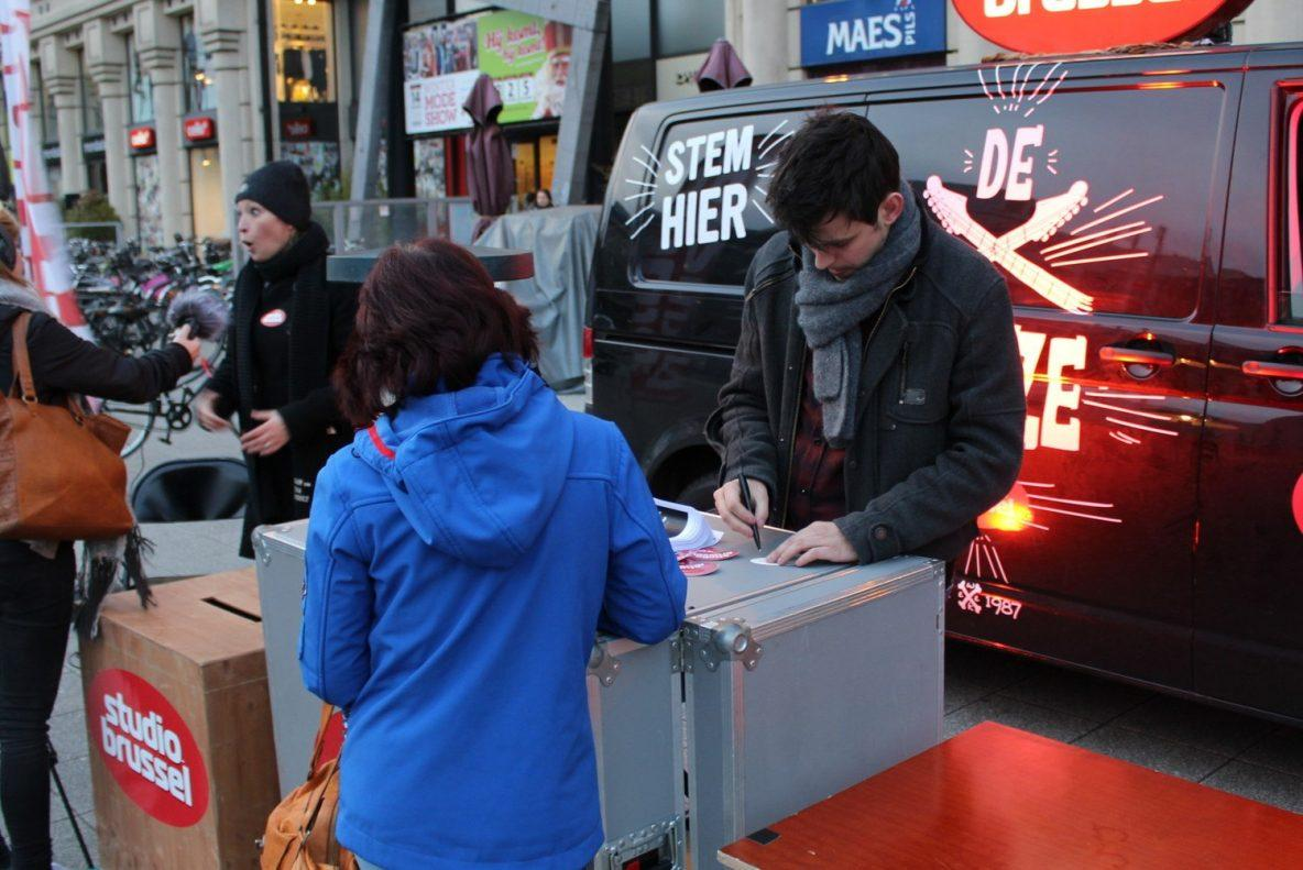 De tijdloze stembus houdt halt in gent voetweg 66 for Cuisine x studio brussel