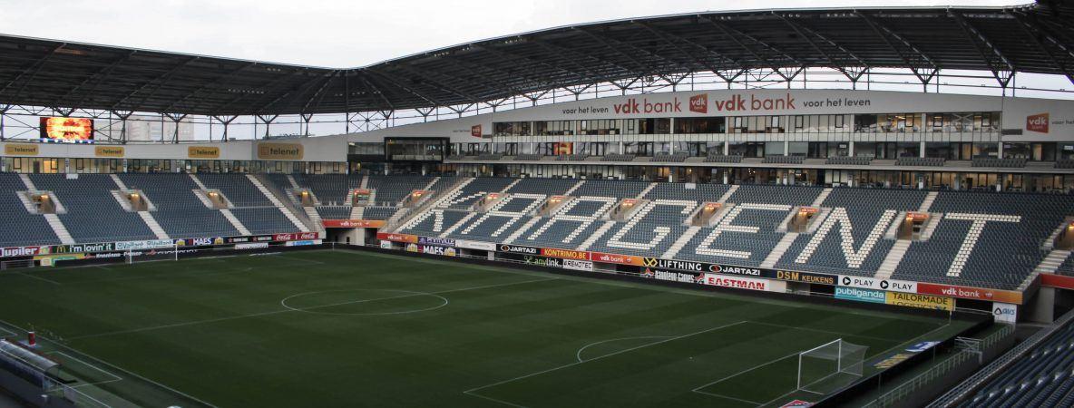 De Ghelamco Arena zal vanavond extra oplichten voor de MS-Liga. © Mattiece David