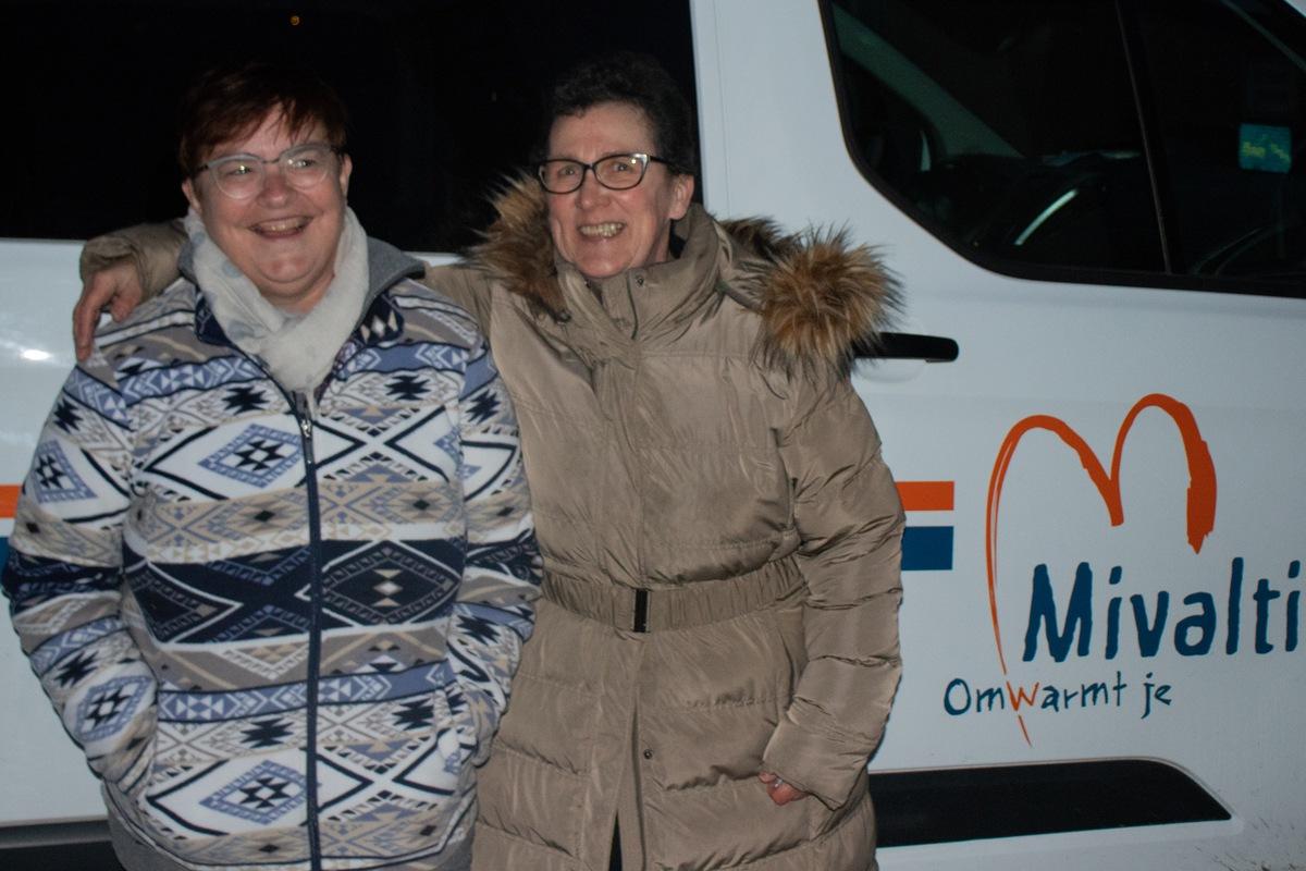Isabelle Herremans (links) en Connie Lareu (rechts) zijn onafscheidelijk. Foto: Sybren Bruneel