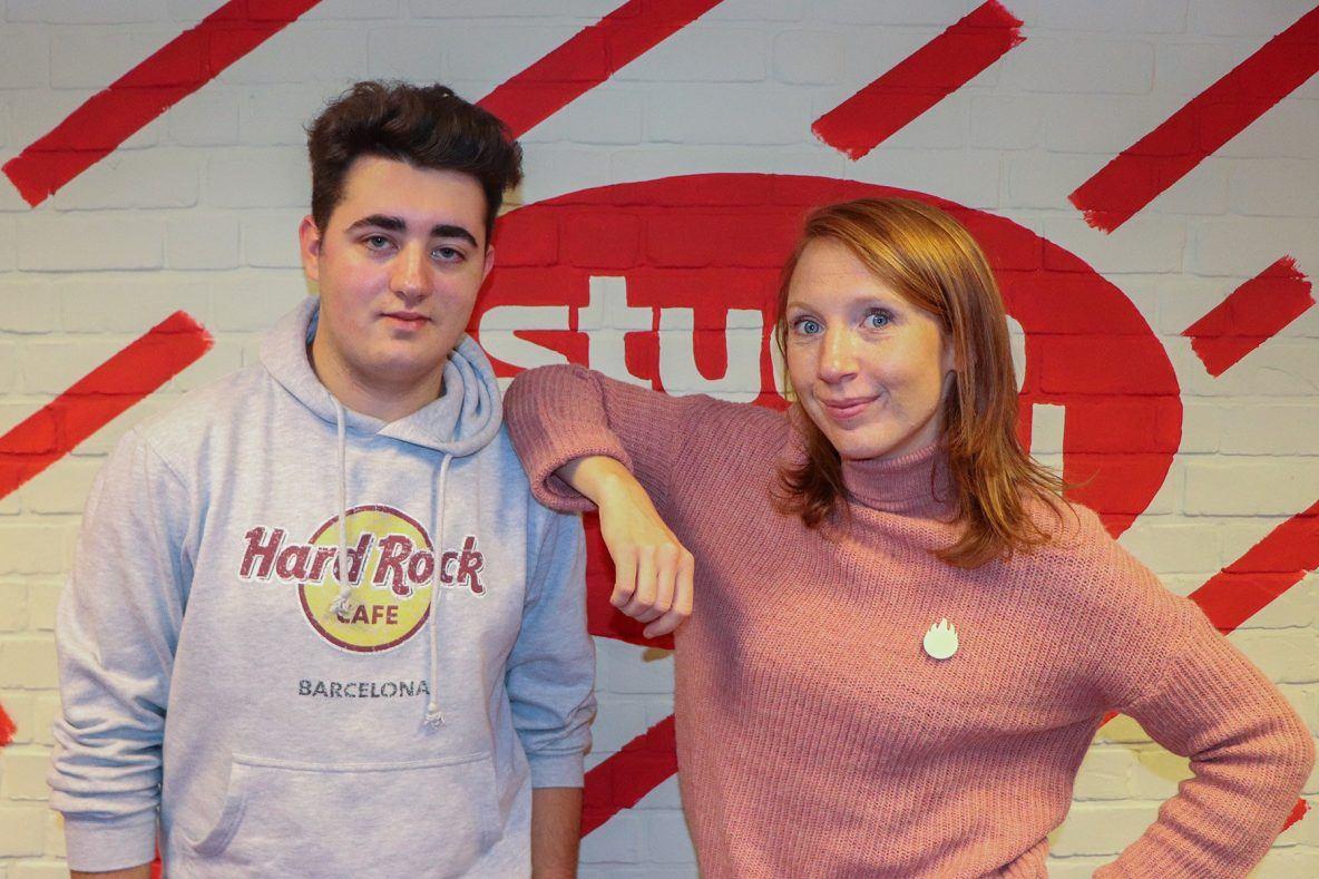 Linde Merckpoel en ikzelf na het interview © Karel Decorte