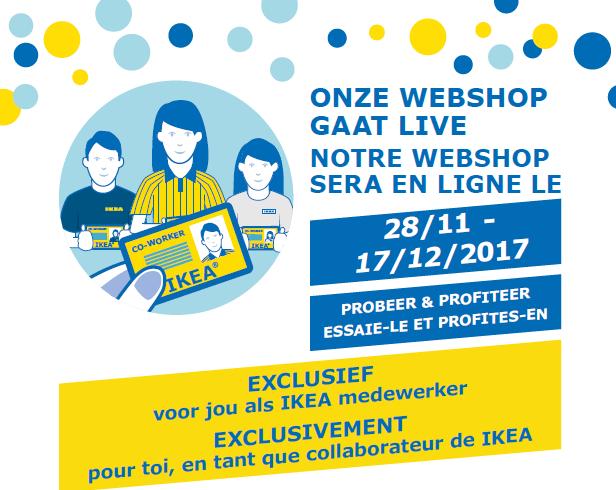 Ikea affiche 'onze webshop gaat live' voor medewerkers