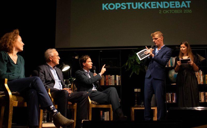 Elke Decruynaere (Groen), Rudy Coddens (sp.a) en Matthias De Clercq (Open VLD)