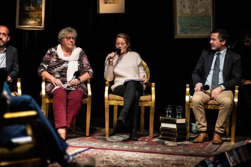 Tom De Meester (PVDA), Mieke Van Hecke (CD&V), Anneleen Van Bossuyt (N-VA), Johan Deckmyn (Vlaams Belang)