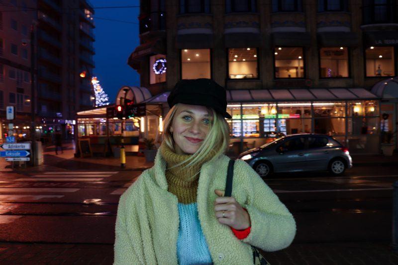 Jade Madoe, regisseur in opleiding, tijdens het interview in De Panne.