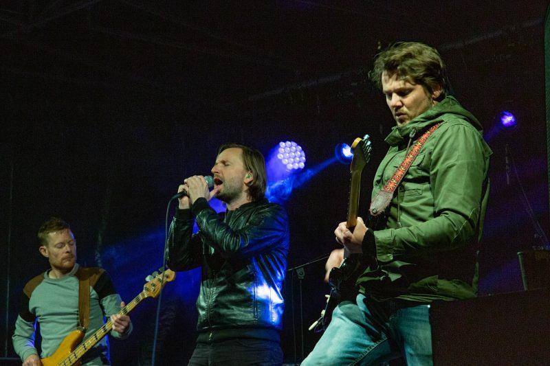 Brugse band Vultures at Dusk aan het optreden op het Wacko Festival in Brugge