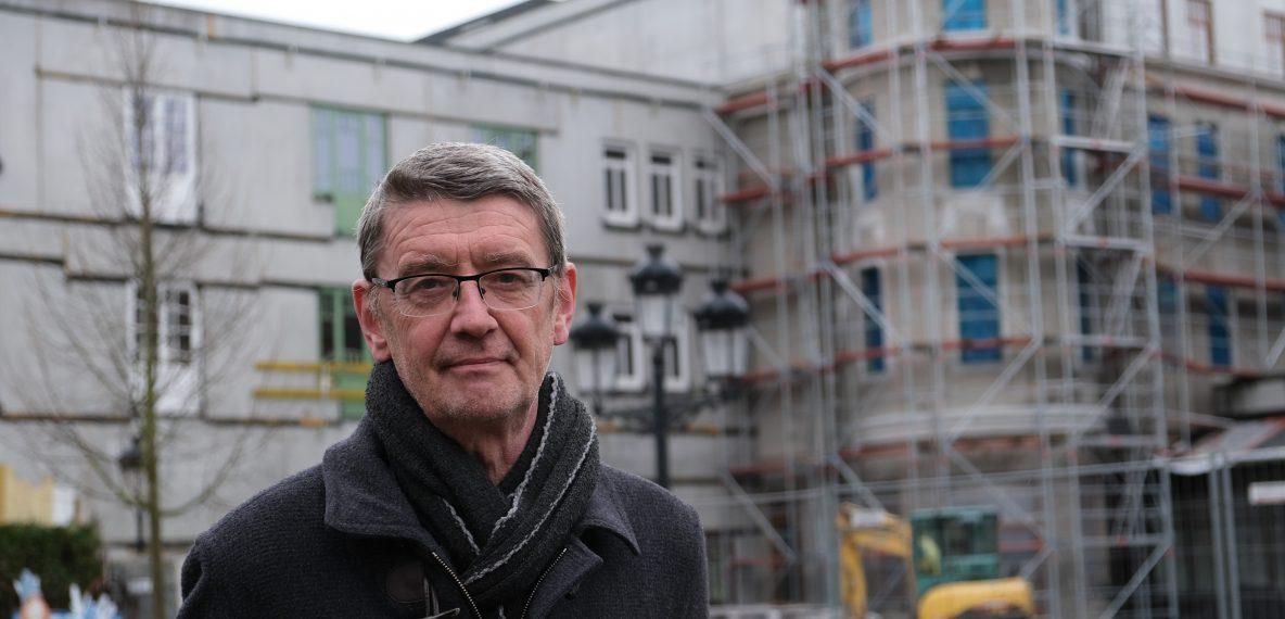 Parkmanager Wim Wauters en nieuw Plopsahotel