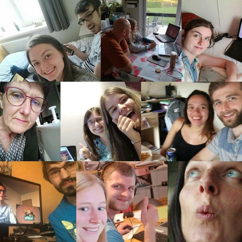 De familie Vanmechelen is klaar voor de online quiz van de Quizfabriek