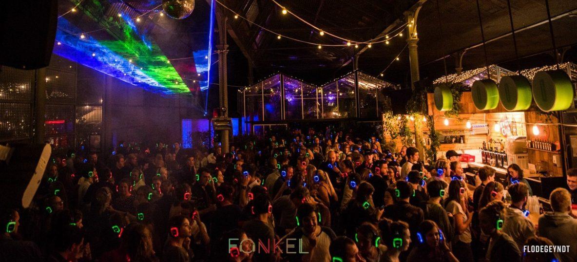 Fonkel Silent Disco evenement © Flodegeyndt