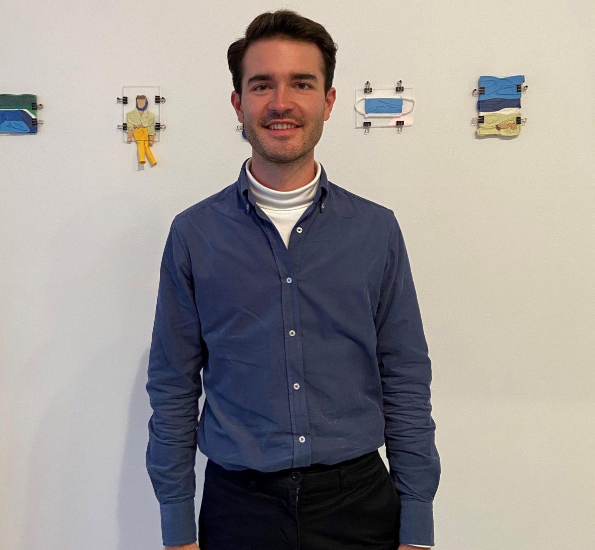 Gilles Tytgat bij zijn expositie in Rotterdam